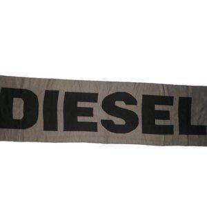 "Diesel Rosalia Scarf Black Gray New 12"" x 62"" NWT"